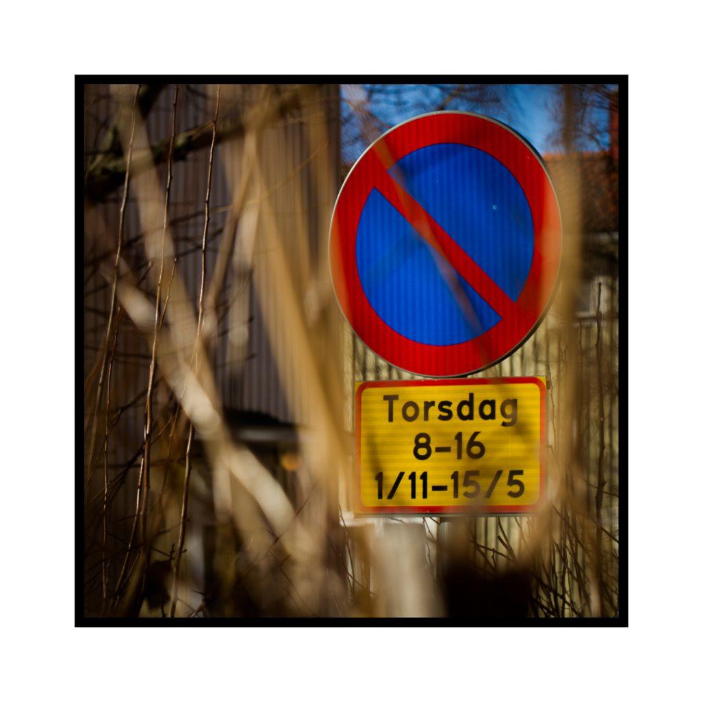 """Bild på """"Förbjudet att parkera""""-skylt"""
