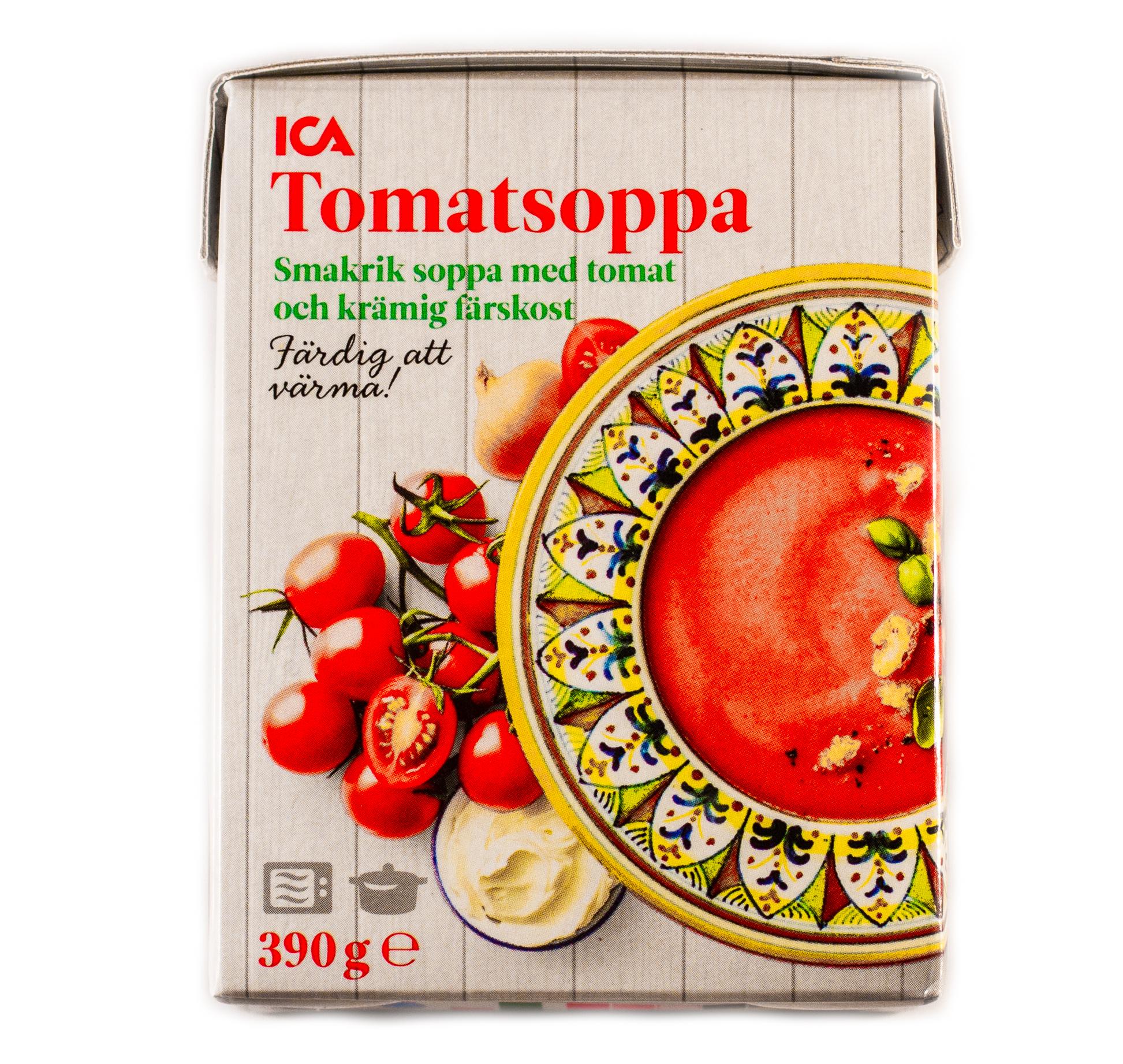 Bild på ICA's tetra med tomatsoppa