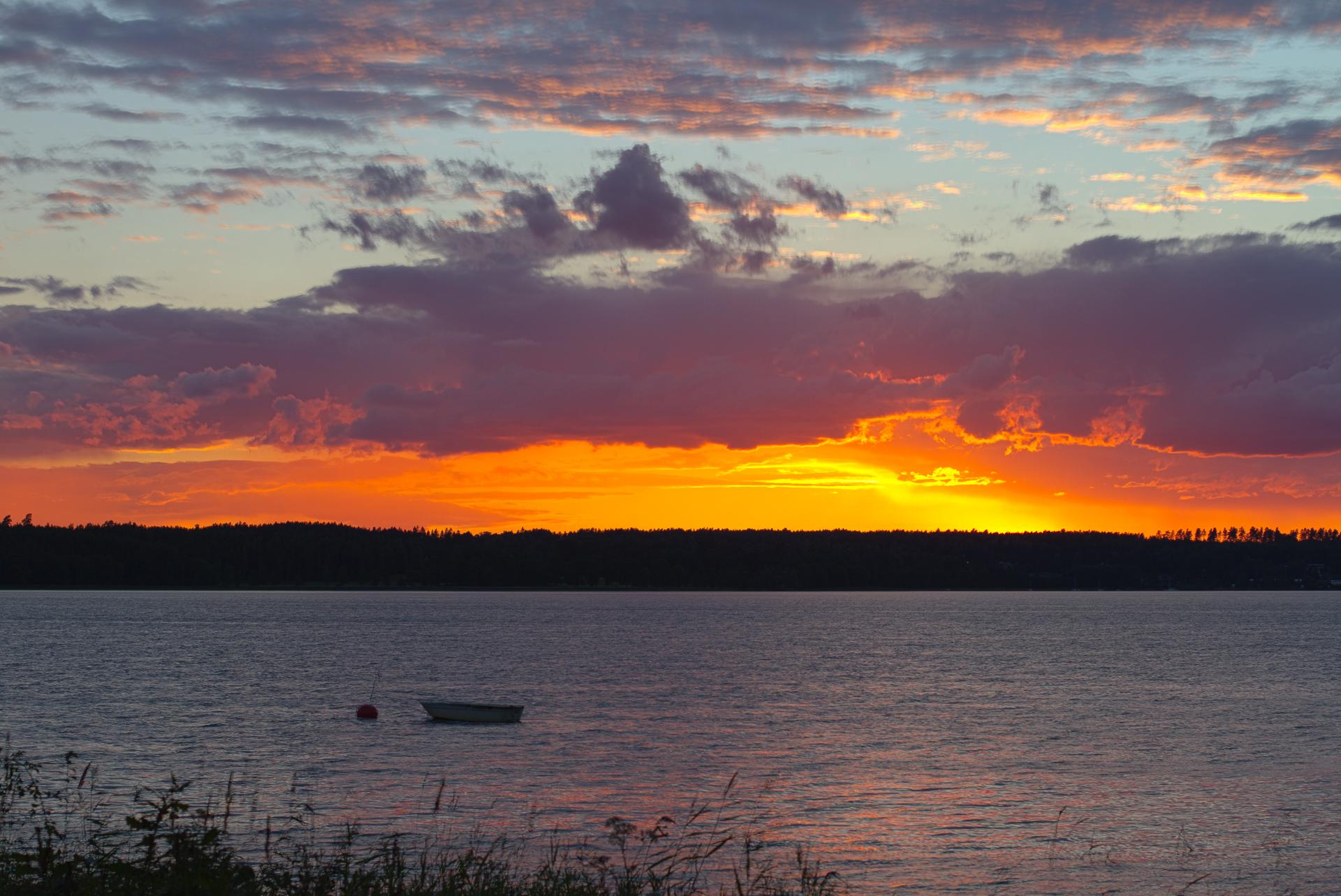 Bild på solnedgång